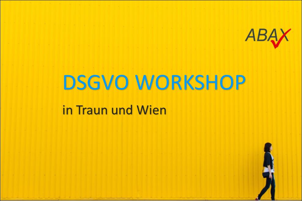 ABAX DSGVO Workshop