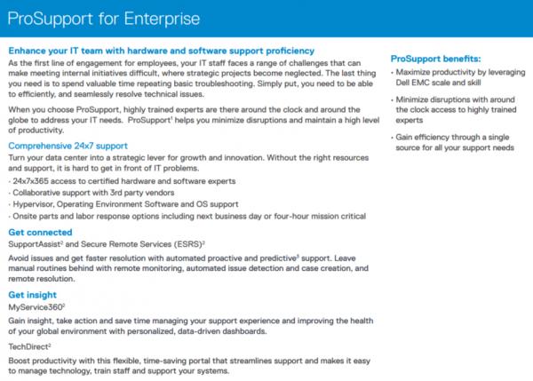 Dell ProSupport for Enterprise